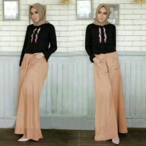 Supplier Baju Hijab Trendy Ukuran Kecil Palazo Set Bahan Crepe