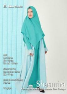 Supplier Gamis Muslimah Terbaru Shasmira Syar'i Warna Biru Tosca Bahan Balotelifes