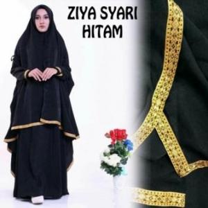 Baju Gamis Murah Dan Cantik Ziya Syar'i Warna Hitam Bahan Misby