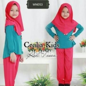 Busana Muslim Anak Perempuan Lucu Cecillia Kids Bahan Jersey