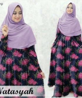 Grosir Baju Hijab Natasyah Syar'i Bahan Baloteli