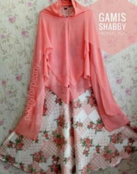 Jual Baju Gamis Cantik Terbaru Shabby Rose Bahan Monalisa