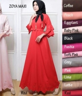 Online Shop Baju Hijabers Modern Modis Zoya Maxi Bahan Balotelli