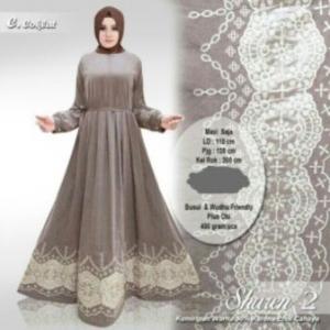 Online Shop Baju Muslim Sharen 2 Maxi bahan Denim