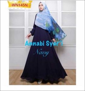 Jual Gamis Muslimah Cantik Annabi Syar'i Bahan Wollycrepe Model Busui