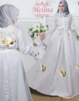 Jual Grosir Busana Muslim Terbaru Melina Maxi Bahan Balotelli