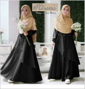 Jual Online Baju Muslim Wanita Ukuran Besar Rihana Syar'i Warna Bahan Maxmara Moisture