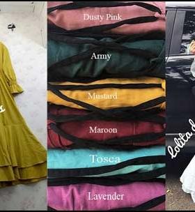 Online Shop Baju Hijabers Lolita Dress