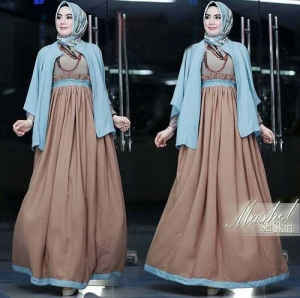 Online Shop Baju Hijabers Modern Mashel Set Bahan Balotell