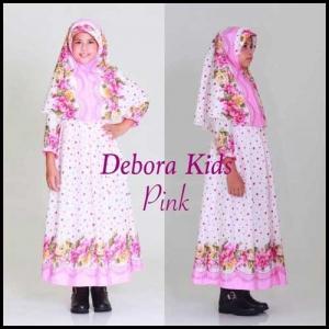 Busana Muslim Anak Perempuan Lucu Warna Pink Bahan Maxmara