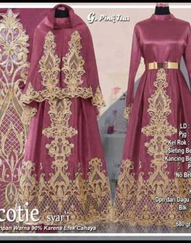 Distributor Baju Pesta Muslim Scotie Syar'i Bahan Balotelifes