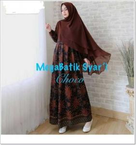 Gamis Batik Cantik Elegan Megabatik-Syar'i_1
