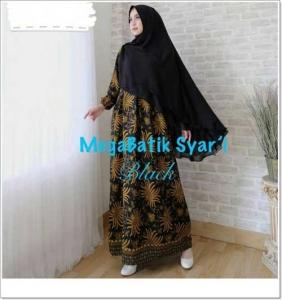 Gamis Batik Cantik Elegan Megabatik-Syar'i_2