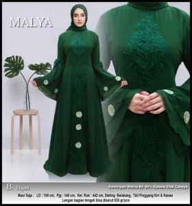 Jual Gamis Pesta Modern Bahan Ceruti Malya Dress Bahan Ceruti