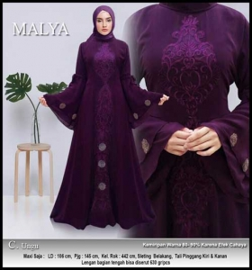 Jual Gamis Pesta Modern Malya Dress Bahan Ceruti
