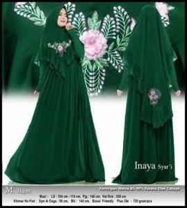 Jual Online Baju Gamis Pesta Modis Inaya Syar'i Warna Spandex