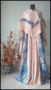 Jual Online Baju Gamis Terbaru Shinta Syar'i Bahan Monalisa