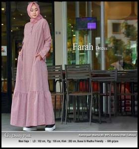Online Shop Baju Hijab Modern Farah Maxi Bahan Linen Rami