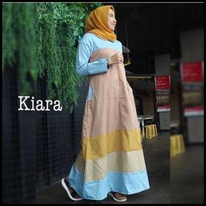 Online Shop Baju Hijabers Tampil Modern Kiara Maxi Bahan Katun Toyobo