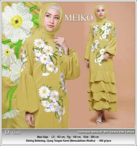 Agen Gamis Modern Tanah Abang Meiko Dress Bahan Wollycrepe