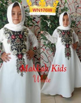 Baju Gamis Anak Perempuan Abaya Makkah Kids Bahan Crepe