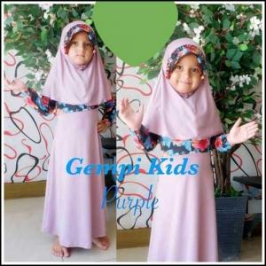 Baju Gamis Anak Perempuan Terbaru Gempi Kids Bahan Jersey