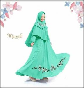 Baju Muslim Anak Perempuan Marvela Kids Bahan Wollycrepe