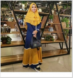 Jual Baju Gamis Cantik Shabiya Syar'i Bahan Wolly Crepe