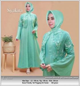Jual Baju Gamis Cantik Terbaru Syakira Dress Bahan Baloteli