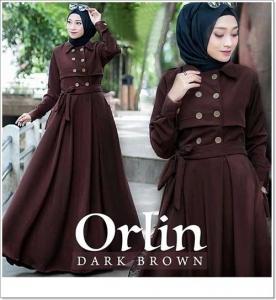 Jual Baju Gamis Katun Anggun Orlin Dress Bahan Ima Platinum