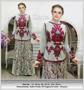 Jual Gamis Cantik Clarissa Dress Bahan Wollycrepe