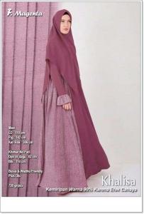Jual Gamis Muslimah Modern Khalisa Syari Bahan Balotelifes
