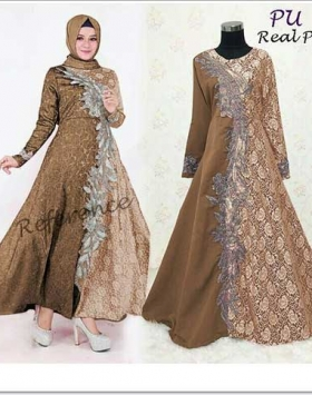 Jual Grosir Baju Gamis Pesta Ukuran Kecil Priska Dress Bahan Baloteli