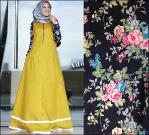 Jual Online Baju Gamis Katun Adonia Maxi Bahan Ima Platinum