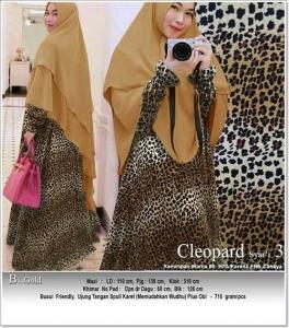 Jual Online Baju gamis Terbaru 2018 Motif Macan Tutul Cleopard Syar'i Bahan Soft Skin