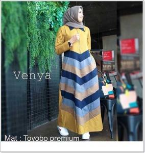 Supplier Baju Gamis Katun Venya Maxi Bahan Katun Toyobo