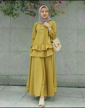 Supplier Busana Muslim Modern Ukuran Kecil Lea Set Bahan Baloteli