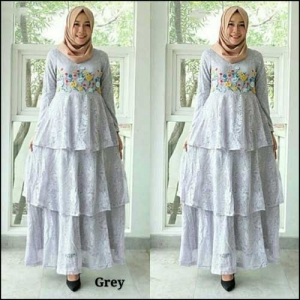 Supplier Gamis Pesta Muslimah Citra Dress Bahan Brukat Halus
