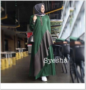 Supplier Gamis Polos Syesha Maxi Bahan Ima Platinum