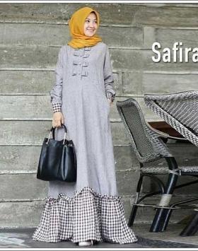 Baju Gamis Katun Yanded Terbaru Safira Maxi