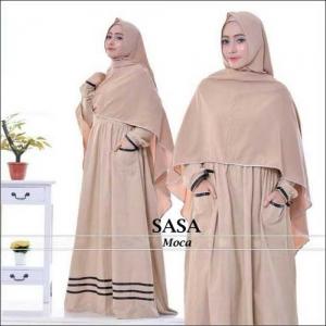 Baju Gamis Polos Sasa Syar'i Bahan Misbie