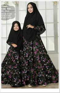 Baju Muslim Ibu Dan Anak Asya Syar'i Bahan Maxmara