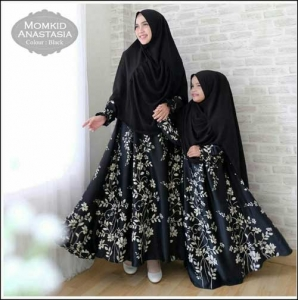 Baju Muslim Ibu dan Anak Anastasia Syar'i Bahan Maxmara