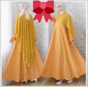 Gaun Pesta Muslimah Elegan Syifa Dress Bahan mosscrepe