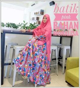 Grosir Baju Gamis Murah Tangan Pertama Batik Dress Bahan Monalisa