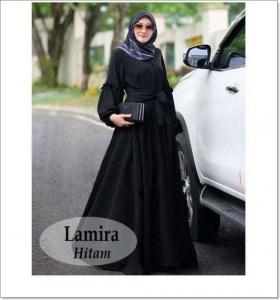 Online Shop Baju Hijabers Modern Kekinian Lamira Maxi Bahan Baloteli