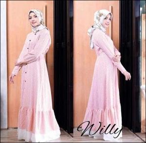 Online Shop Baju Hijabers Modern Modis Willy Maxi Bahan Katun Yanded