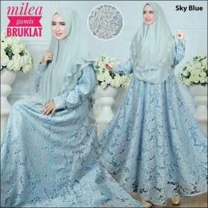 Supplier Baju Gamis Pesta Milea Syar'i Bahan Brokat