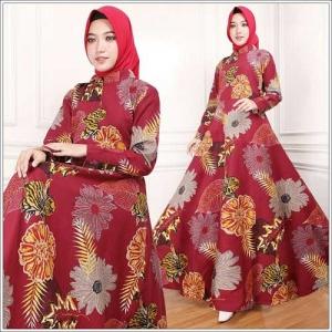 Supplier Busana Muslim Terbaru Indah Maxi Bahan-Rami