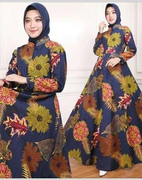 Supplier Busana Muslim Terbaru Indah Maxi Bahan Rami